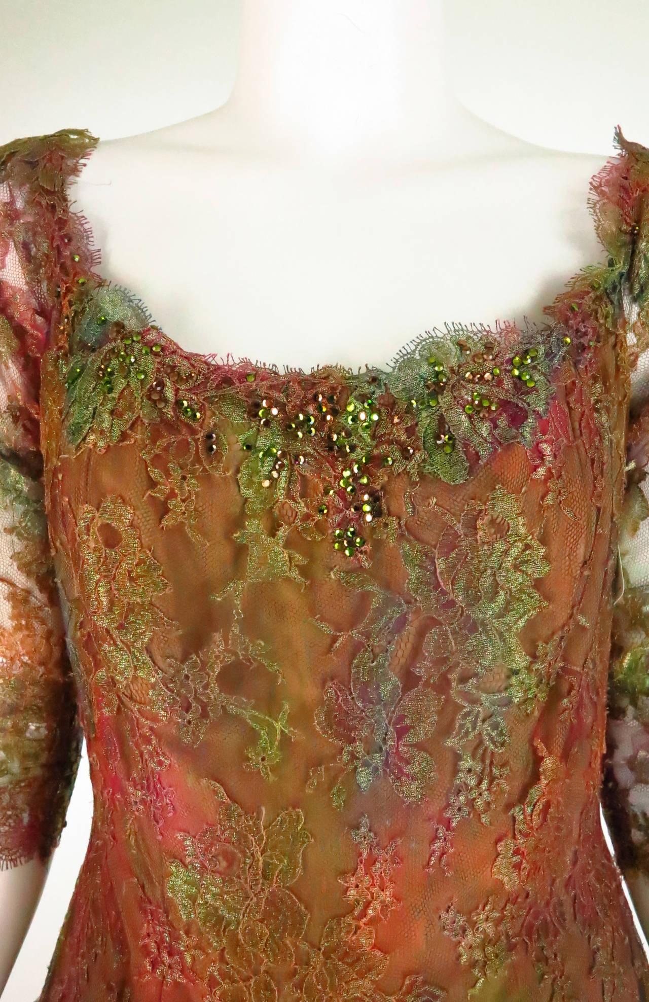 Ivonne de la Vega at Martha Palm Beach ombre lace & tulle gown 7