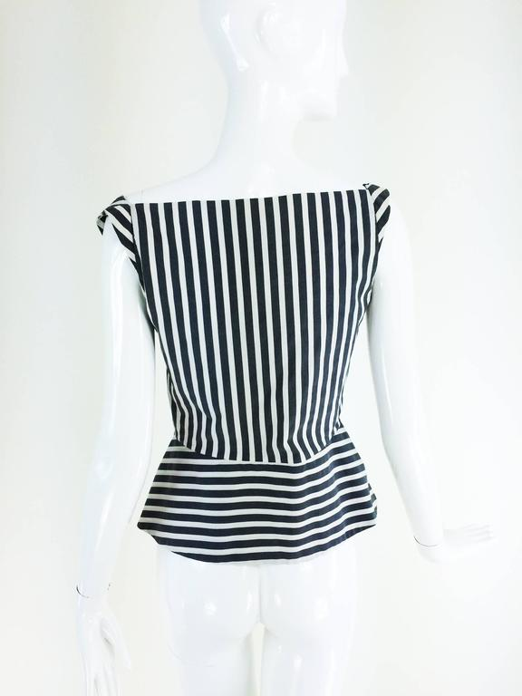 Vivienne Westwood Anglomania black & white striped corset top 1990s 3