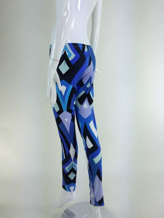 Pucci geometric leggings in shades of blue 7