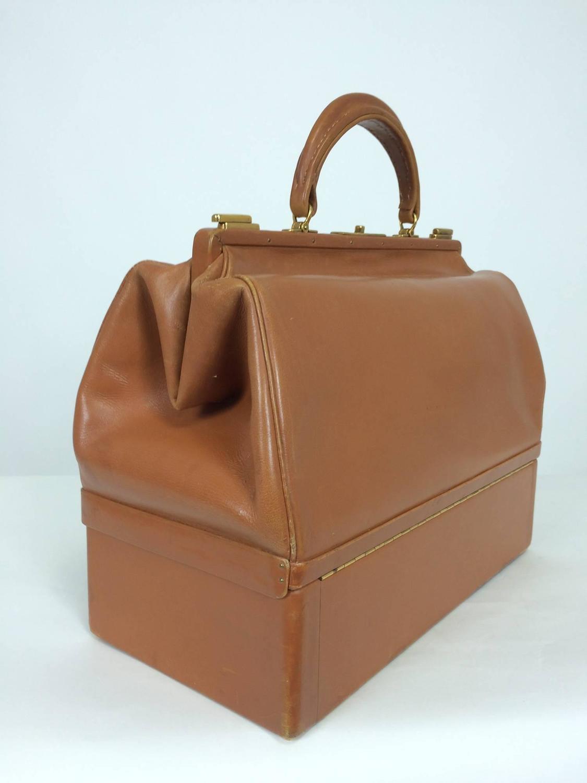 fake celine bags - Rare Hermes 1950s Sac Mallette in glazed box calf saddle tan ...