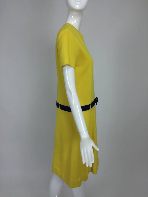 Early 1970s Bill Blass colour block mod knit dress For Sale 3