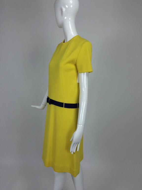 Brown Early 1970s Bill Blass colour block mod knit dress For Sale