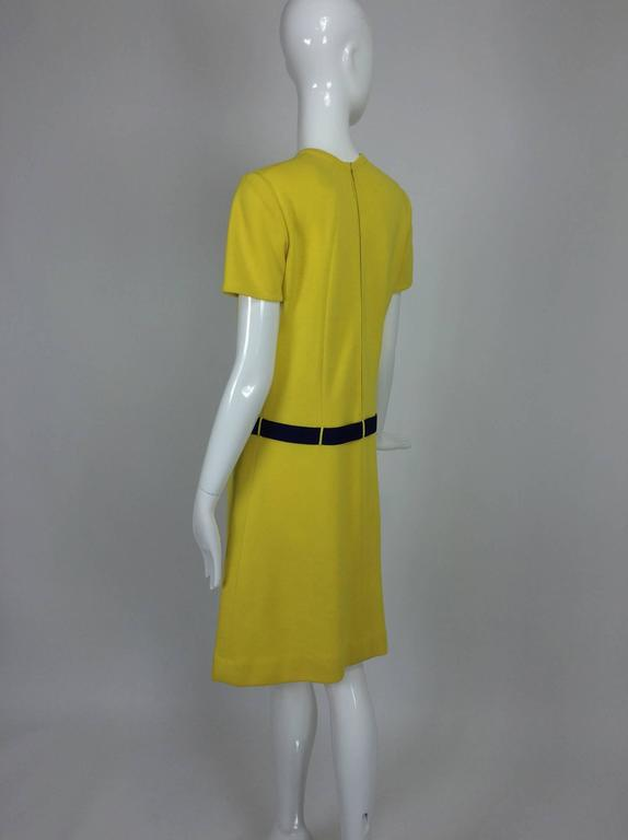 Early 1970s Bill Blass colour block mod knit dress In Excellent Condition For Sale In West Palm Beach, FL