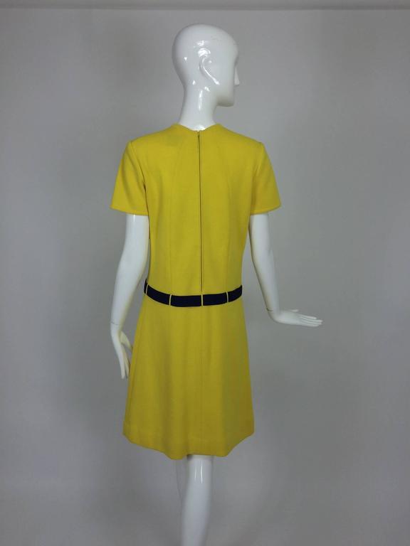 Women's Early 1970s Bill Blass colour block mod knit dress For Sale