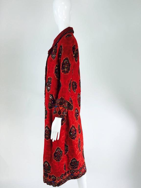 Shisha pomegranate damask embroidered flapper style coat India 1920s 8