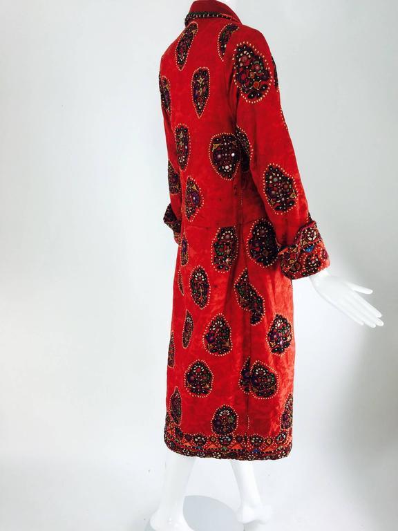 Shisha pomegranate damask embroidered flapper style coat India 1920s 5