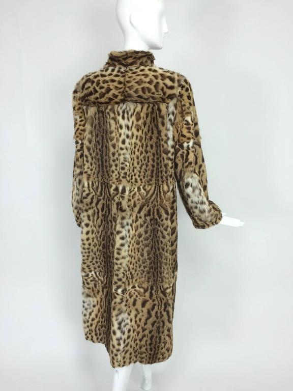 1970s full length spotted fur coat Yorn Boutique  For Sale 1