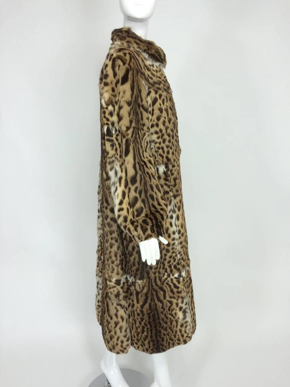 1970s full length spotted fur coat Yorn Boutique  For Sale 3