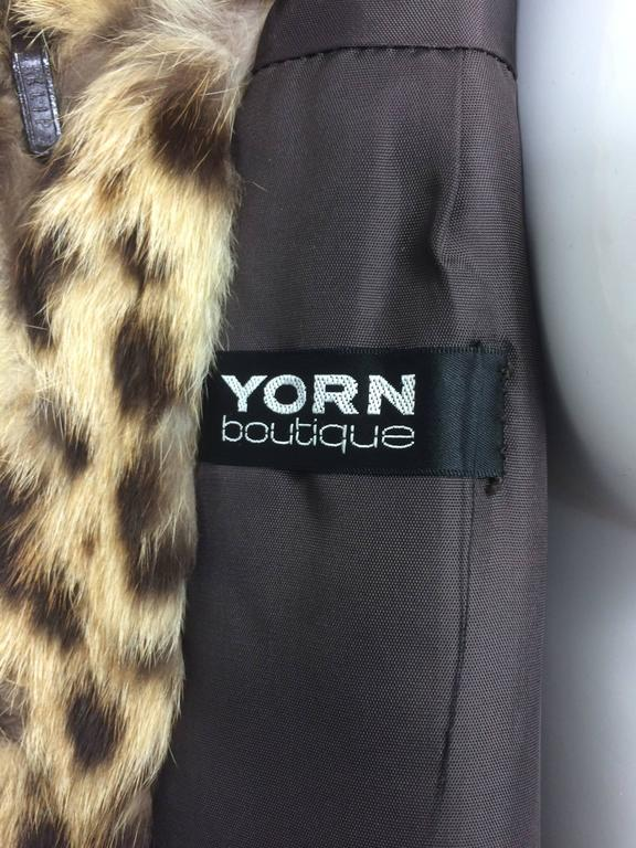 1970s full length spotted fur coat Yorn Boutique  For Sale 4