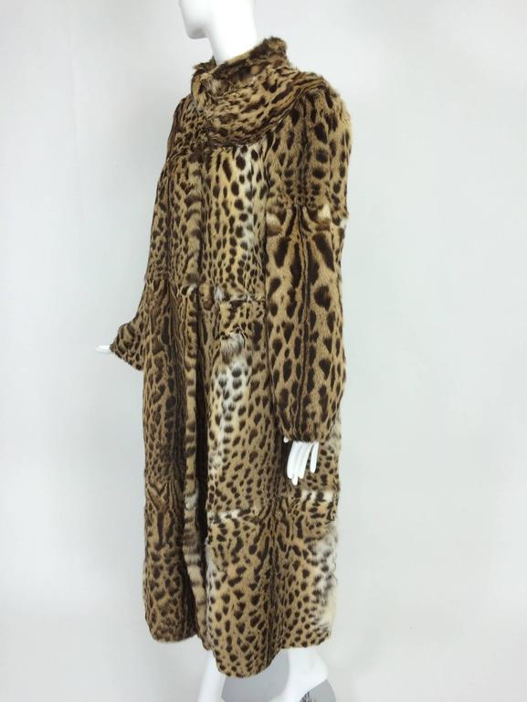 1970s full length spotted fur coat Yorn Boutique  In Excellent Condition For Sale In West Palm Beach, FL