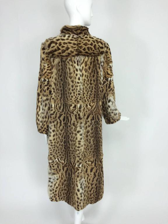 Women's 1970s full length spotted fur coat Yorn Boutique  For Sale