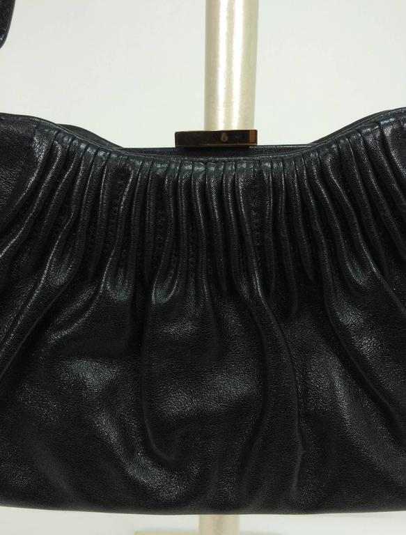 1stdibs Escada Black Leather Frame Bag Convertible Clutch Or Shoulder Handbag NDaio0kJYe