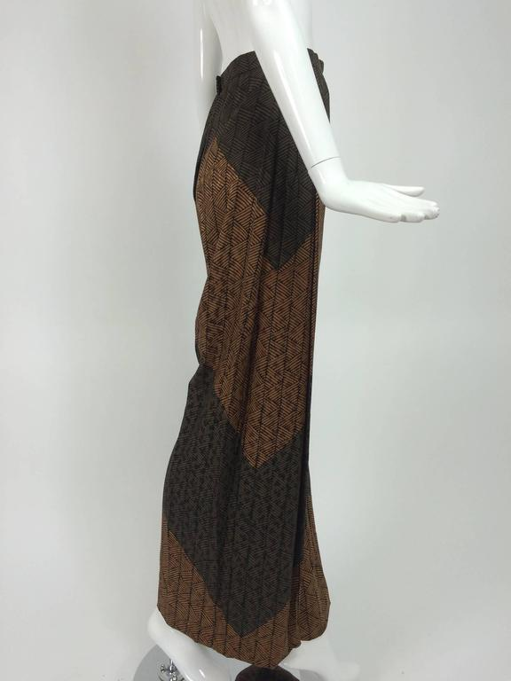 Carolina Herrera cocoa/chocolate geometric print wide leg trouser 7