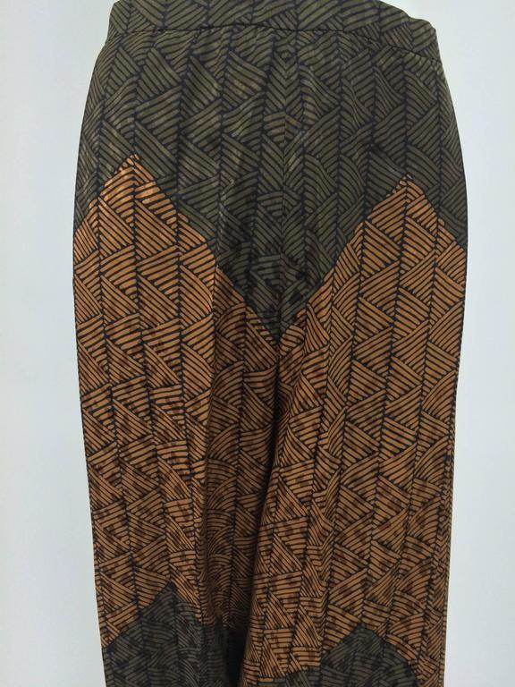 Carolina Herrera cocoa/chocolate geometric print wide leg trouser 8