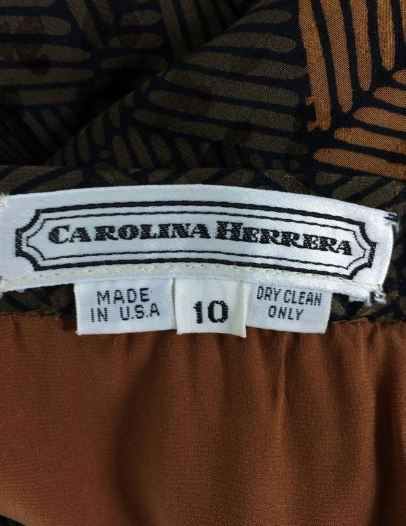 Carolina Herrera cocoa/chocolate geometric print wide leg trouser 9