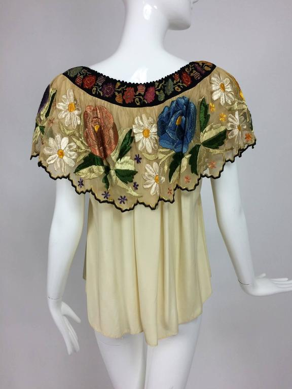 Cream Peasant Blouse