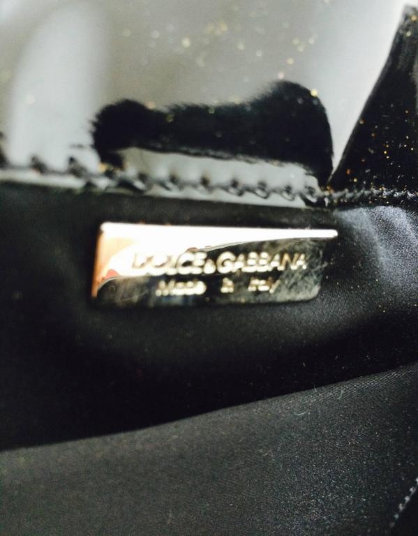 Dolce & Gabbana garnet red sequin & patent shoulder handbag silver hardware For Sale 2