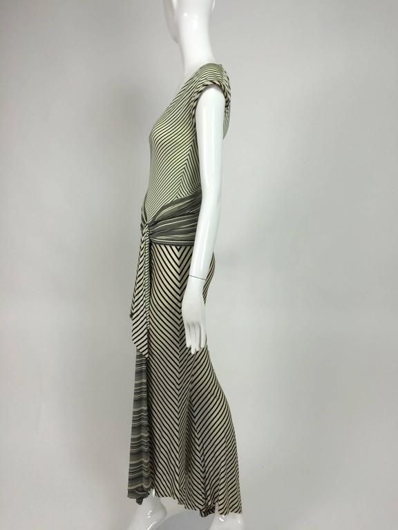 Vintage JIKI Monte Carlo Body con striped asymmetrical hem jumpsuit 1980s 3