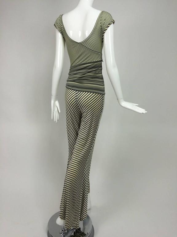 Vintage JIKI Monte Carlo Body con striped asymmetrical hem jumpsuit 1980s 6