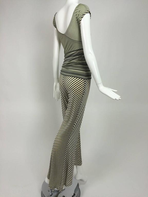 Vintage JIKI Monte Carlo Body con striped asymmetrical hem jumpsuit 1980s 7
