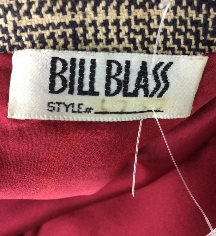 Bill Blass Beaded Plaid Coat Runway 1970s For Sale 4