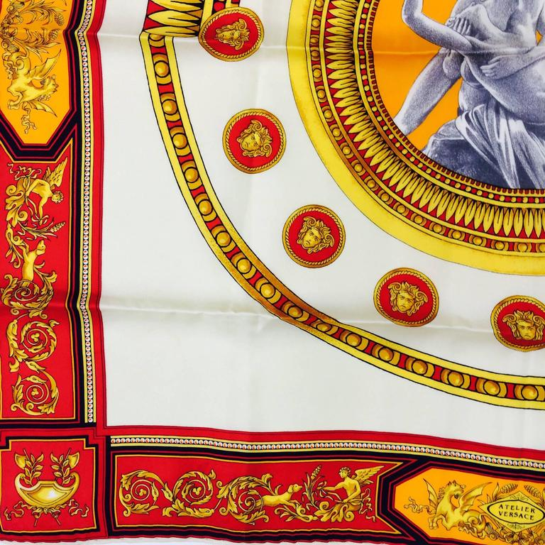 dacfdfa5 Vintage Atelier Versace Amor and Psyche silk scarf 1980s