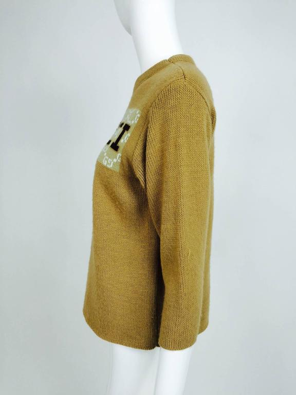 Women's or Men's Vintage Gucci novelty logo sweater 1970s For Sale
