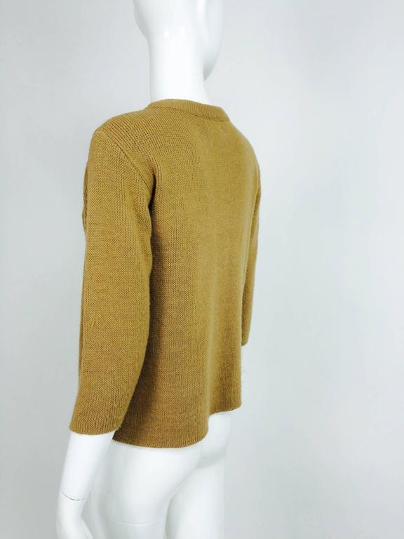 Vintage Gucci novelty logo sweater 1970s For Sale 1