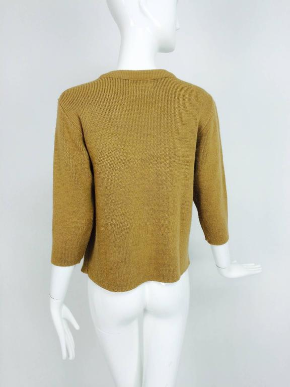 Vintage Gucci novelty logo sweater 1970s For Sale 2