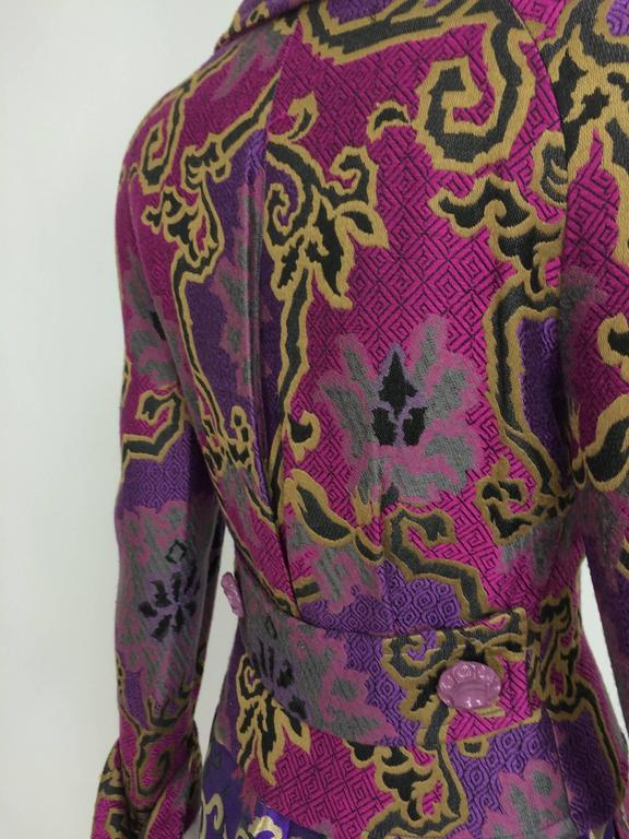 Vintage Purple brocade jacket & coordinating satin brocade mini skirt 1990s 7