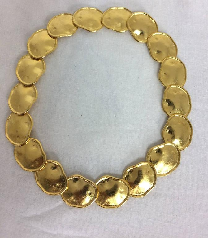 KJL Kenneth J Lane gold artisan inspired necklace 2