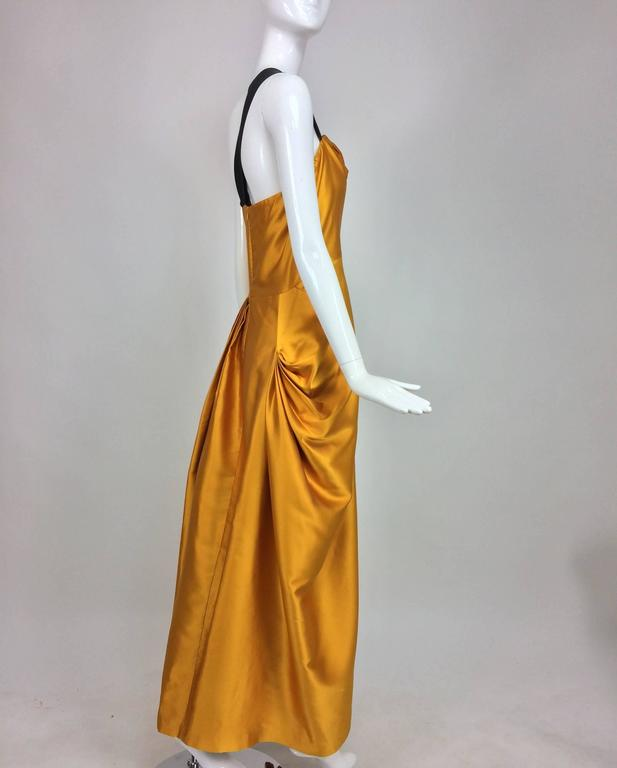 Dries Van Noten saffron silk one shoulder evening gown SS 2009 4