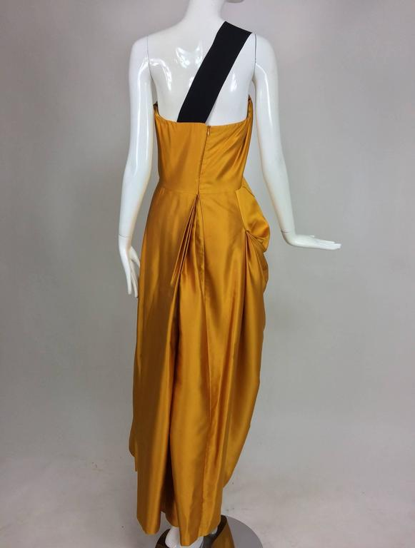 Dries Van Noten saffron silk one shoulder evening gown SS 2009 5