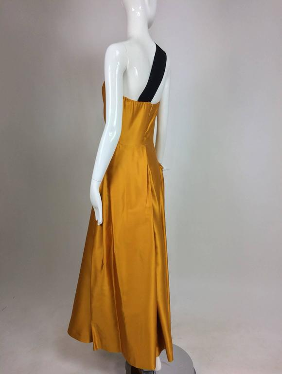 Dries Van Noten saffron silk one shoulder evening gown SS 2009 6