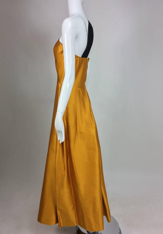 Dries Van Noten saffron silk one shoulder evening gown SS 2009 7