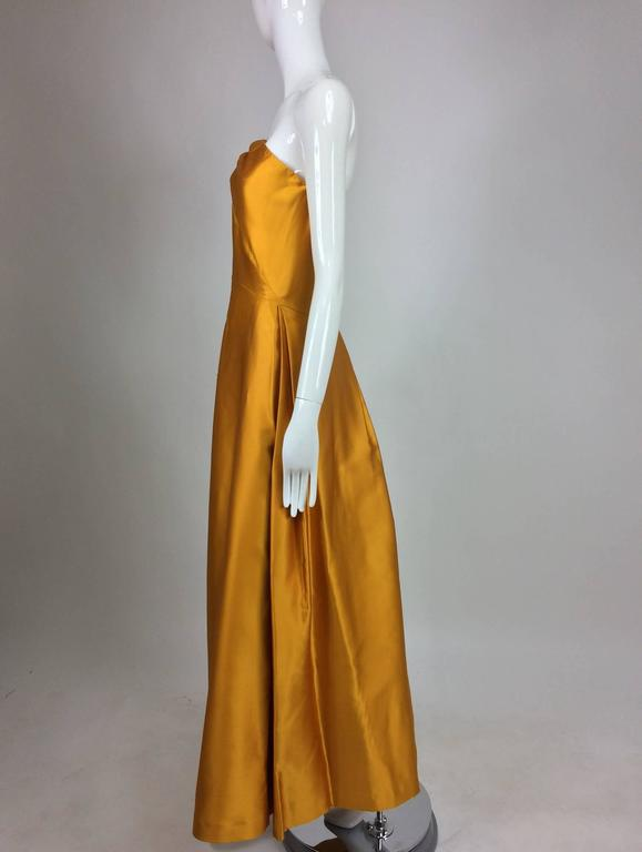 Dries Van Noten saffron silk one shoulder evening gown SS 2009 8