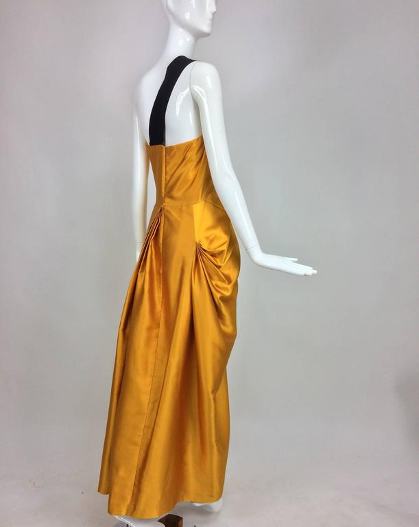 Dries Van Noten saffron silk one shoulder evening gown SS 2009 9