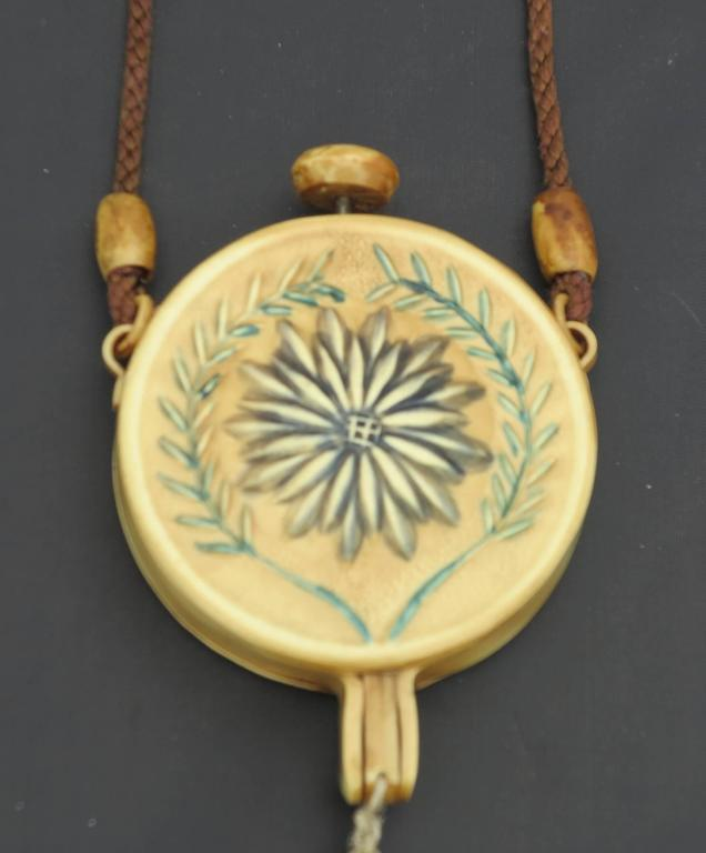 1920s floral celluloid tasseled dance purse nécessaire 2
