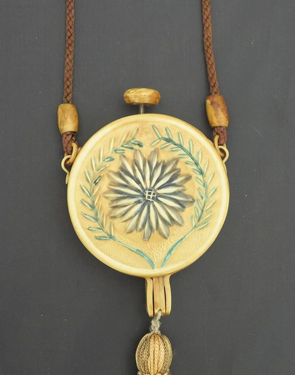 1920s floral celluloid tasseled dance purse nécessaire 4