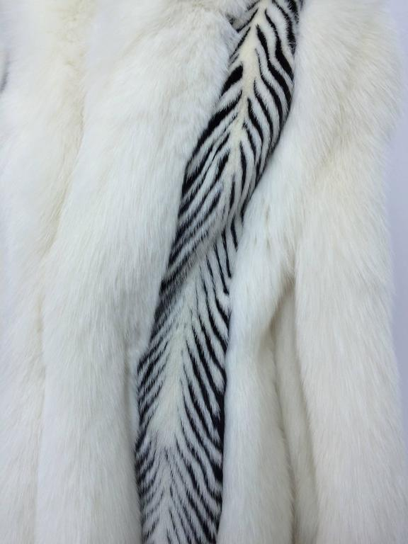 Aladino Stefani arctic fox and sheared black and white mink full length coat 4