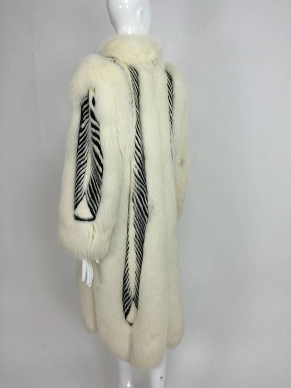 Aladino Stefani arctic fox and sheared black and white mink full length coat 7