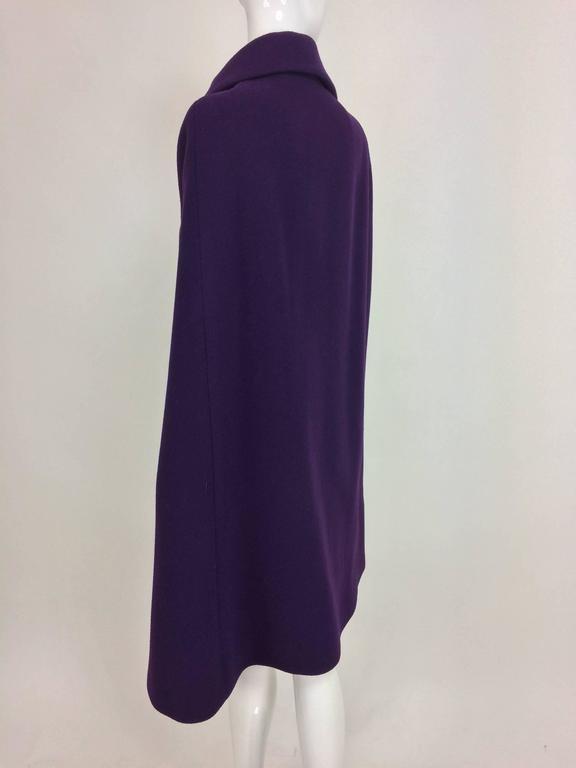 Women's Vintage Pauline Trigere purple wool cape 1970s For Sale