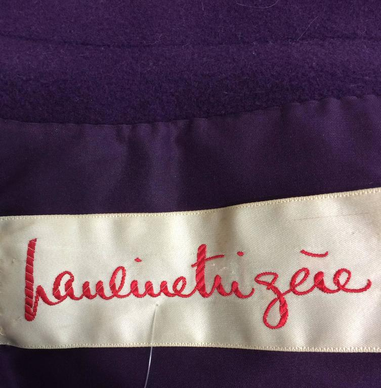 Vintage Pauline Trigere purple wool cape 1970s For Sale 5