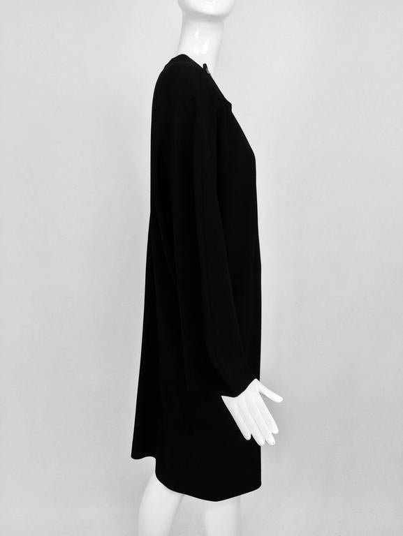 Vintage Jean Muir black wool crepe dolman sleeve dress 1980s In Excellent Condition For Sale In West Palm Beach, FL