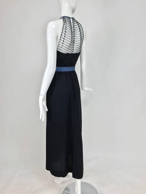 Mainbocher 1946 black crepe and net dress with hood estate of Ruth Gordon  For Sale 1