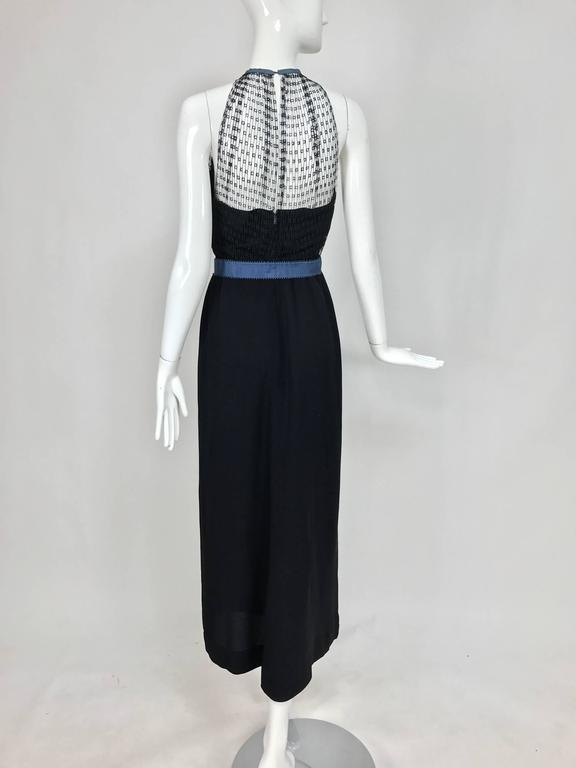 Mainbocher 1946 black crepe and net dress with hood estate of Ruth Gordon  For Sale 2