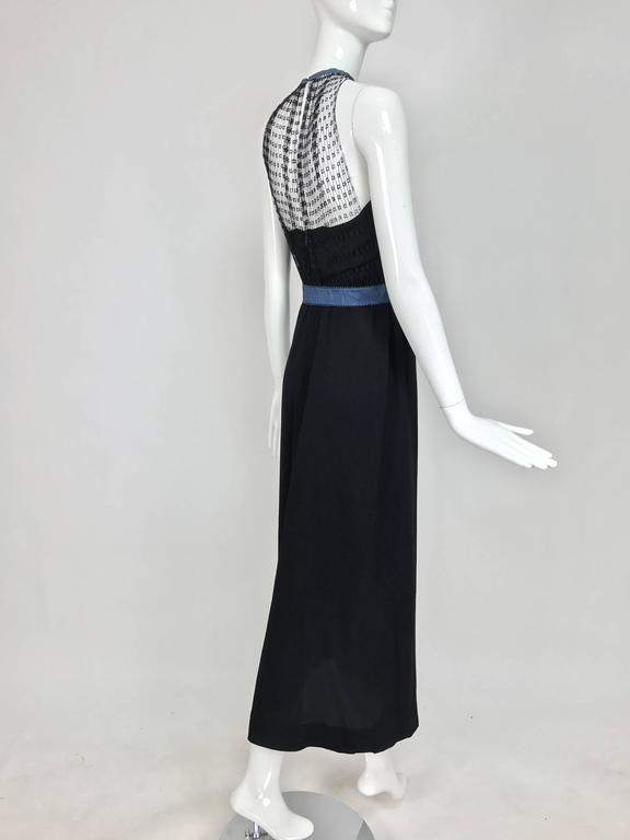 Mainbocher 1946 black crepe and net dress with hood estate of Ruth Gordon  For Sale 3