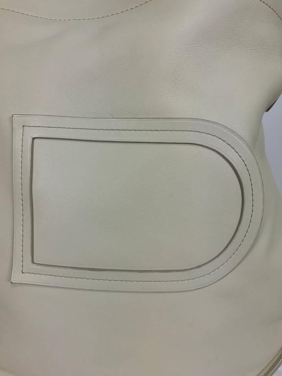 Delvaux ivory leather pin holdall shoulder bag 2