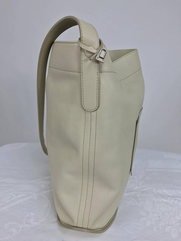 Delvaux ivory leather pin holdall shoulder bag 3