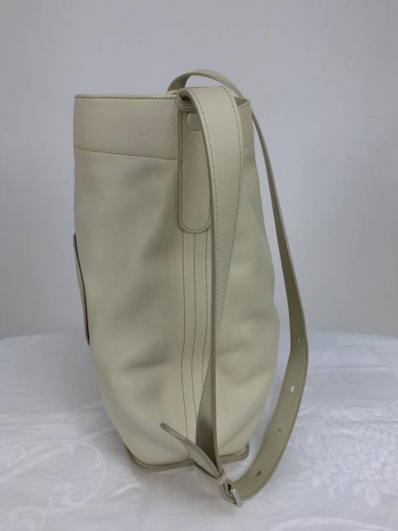 Delvaux ivory leather pin holdall shoulder bag 5